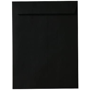 JAM Paper® 10 x 13 Open End Catalog Envelopes with Gum Closure, Smooth Black, 25/pack (87733a)