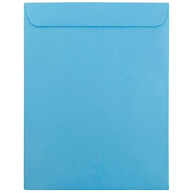 JAM Paper® 10 x 13 Open End Catalog Envelopes with Gum Closure, Brite Hue Blue Recycled, 25/Pack