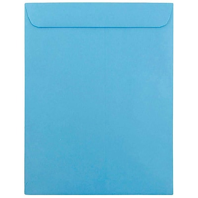 JAM Paper® 10 x 13 Open End Catalog Envelopes with Gum Closure, Brite Hue Blue Recycled, 50/pack (87725i)