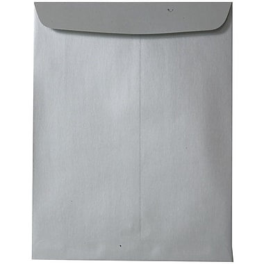 JAM Paper® 10 x 13 Open End Catalog Envelopes with Gum Closure, Silver Stardream Metallic, 25/Pack