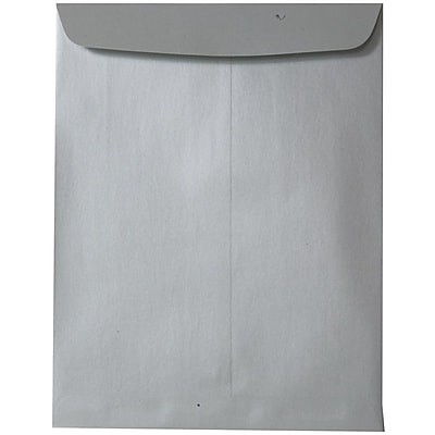 JAM Paper® 10 x 13 Open End Catalog Envelopes with Gum Closure, Silver Stardream Metallic, 50/pack (v018324i)