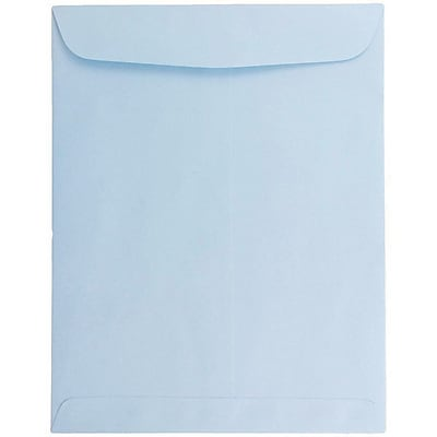 JAM Paper® 10 x 13 Open End Catalog Envelopes with Gum Closure, Baby Blue, 25/pack (1286188a)