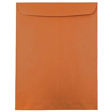 JAM Paper® 10 x 13 Open End Catalog Envelopes with Gum Closure, Dark Orange, 50/Pack
