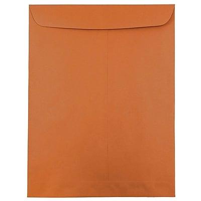 JAM Paper® 10 x 13 Open End Catalog Envelopes with Gum Closure, Dark Orange, 50/pack (31287540i)