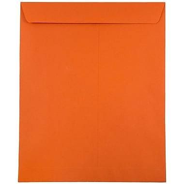 JAM Paper® 10 x 13 Open End Catalog Envelopes with Gum Closure, Brite Hue Orange Recycled, 50/Pack (87766I)