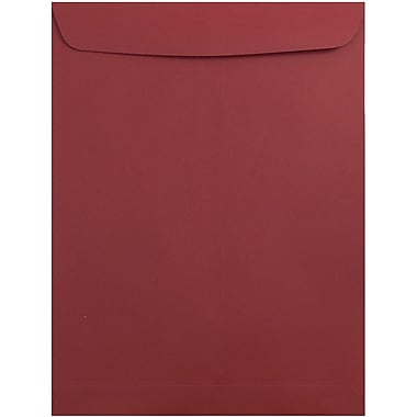 JAM Paper® 10 x 13 Open End Catalog Envelopes with Gum Closure, Dark Red, 50/Pack
