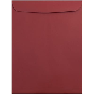 JAM Paper® 10 x 13 Open End Catalog Envelopes with Gum Closure, Dark Red, 25/pack (31287541a)