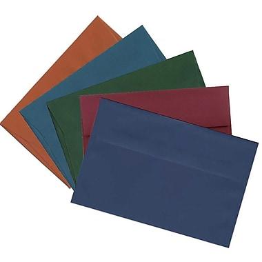JAM Paper® A10 Invitation Envelopes, 6 x 9.5, Assorted Dark Colors, 125/pack (639A10bortb)