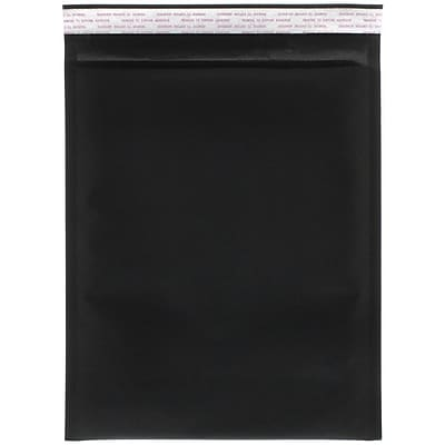 JAM Paper® Bubble Lite Padded Mailers, 9x 12, Black Kraft, 100/pack (kp9x12bld)