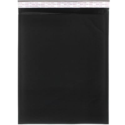 JAM Paper® Bubble Lite Padded Mailers, 10 x 13, Black Kraft, 100/pack (kp10x13bld)