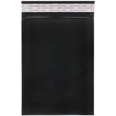 JAM Paper® Bubble Lite Padded Mailers, Size 00, 5 x 8.5, Black Kraft, 25/Pack