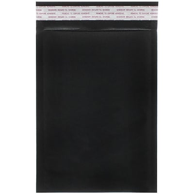 JAM Paper® Bubble Lite Padded Mailers, Size 00, 5 x 8.5, Black Kraft, 100/pack (kp00bld)