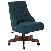 Inspired by Bassett Rebecca Office Chair with Dark Espresso Finish Base and Klein Azure Fabric (BP-REBEX-K14)