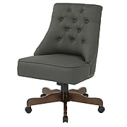 Inspired by Bassett Rebecca Office Chair with Dark Espresso Finish Base and Klein Charcoal Fabric (BP-REBEX-K26)