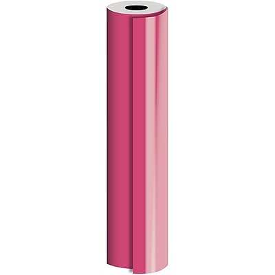JAM Paper® Industrial Size Bulk Wrapping Paper Rolls, Neon Pink, 1/2 Ream (1042.5 Sq. Ft.), Sold Individually (165J90630417)