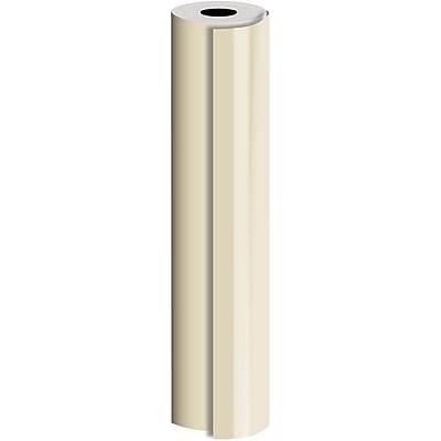 JAM Paper® Industrial Size Bulk Wrapping Paper Rolls, Champagne, 1/2 Ream (1042.5 Sq. Ft.), Sold Individually (165J92330417)