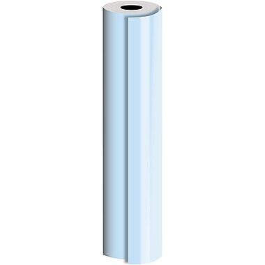 JAM Paper® Industrial Size Bulk Wrapping Paper Rolls, Pastel Blue, 24
