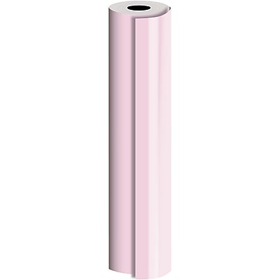 JAM Paper® Industrial Size Bulk Wrapping Paper Rolls, Pastel Pink, Full Ream (1666 Sq. Ft.), Sold Individually (165J90224833)