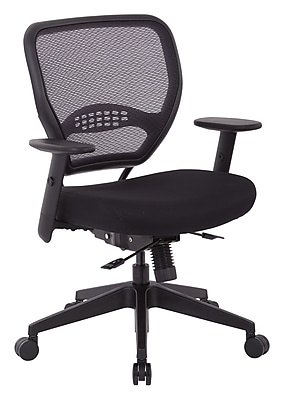 Office Star SPACE Seating Padded Mesh Fabric Seat and Mesh Back Manager's Chair, Black (5700SL)