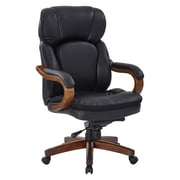 Inspired by Bassett Van Buren Black Bonded Leather Knee Tilt Executive Chair (BP-VANEX-EC3)