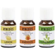 HoMedics ARMH-EO15AP2 Relax Sampler, 3 pk (Lemon, Peppermint & Energize Blend)