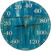 "Springfield Precision 10"" Tempered Glass Dial Thermometer, Turquoise Rust (98321)"