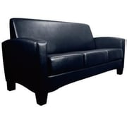 Essentials by OFM Traditional Three Seated Armed Sofa, Black (ESS-9052-BLK)