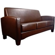 Essentials by OFM Traditional Three Seated Armed Sofa, Brown (ESS-9052-BRN)