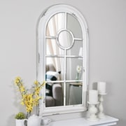 "FirsTime® Adeline Arch 36"" H x 19"" W Cream Metal Framed Wall Mirror (70002)"
