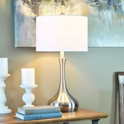 "FirsTime® Kade Teardrop 22""H Standard Table Lamp Nickel (70004)"