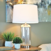 """FirsTime®  Afton Cylinder 26""""H Standard Table Lamp Mercury (70005)"""