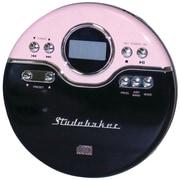 Studebaker Personal Jogging CD Player with FM PLL Radio, Pink/Black (SB3703PB)