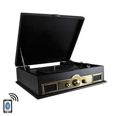 Pyle Home Retro Vintage Classic Style Bluetooth Turntable Vinyl Record Player with Recording Ability (PTT30BK) (93599199M)