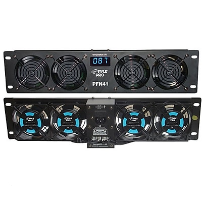 """""""""""Pyle 19"""""""""""""""" Rack Mount Cooling Fan System W/Temperature Display (PFN41)"""""""""""" 24139714"""