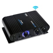 Pyle Home Bluetooth Mini Blue Compact Amplifier (PFA330BT)