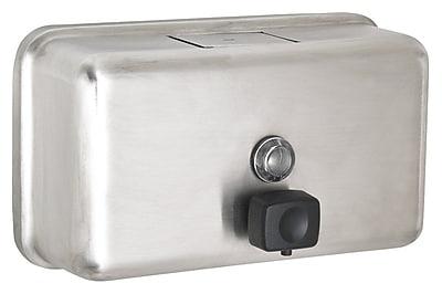 Alpine Manual Surface-Mounted Stainless Steel Wide Liquid Soap Dispenser, 40 oz. Capacity (ALP424-SSB)