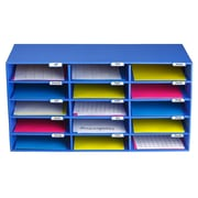 Adir Office File Organizer Classroom Office Home Blue 15 Slots (501-15-BLU)