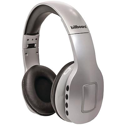 Billboard On-Ear Bluetooth Headphones, Silver (BB779)