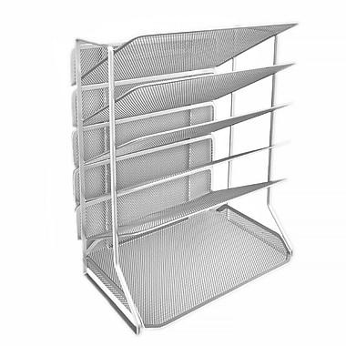 Seville Clics 6 Tray Iron Mesh Office Vertical Desktop Wall Mount Organizer Letter