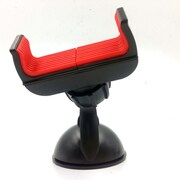 Universal Adjustable Car Mount Dashboard Windshield Phone Holder for iPhone, Samsung, Android (CARMOUNTB-RED)