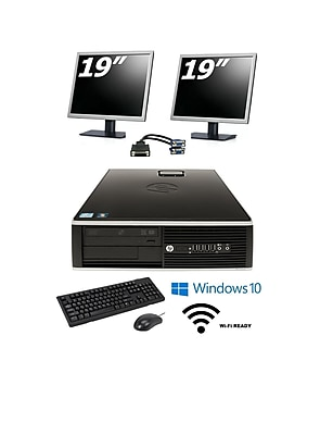 Refurbished HP 8000 SFF Core 2 Duo 3.0 (Includes two 19