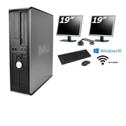 "Refurbished Dell GX780 Core 2 Duo 3.0 (Includes two 19"" LCD monitors), 8GB, 1TB, DVDRW, WiFi, Win 10 Pro"