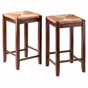 "Winsome Kaden 24""H Solid Walnut Counter Stool, 2/Set (94284)"