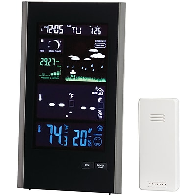 Taylor Precision Products Digital Color Weather Station with USB Charger (1740)