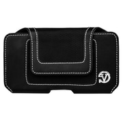 Black Universal Cellphone Pouch with Belt Clip with Touch Fastner