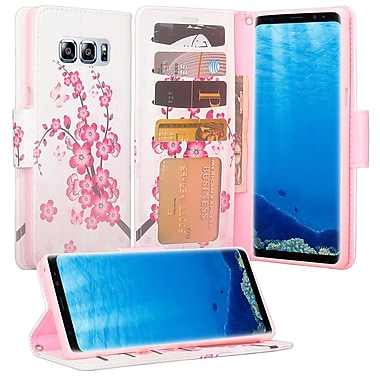 Autumn Flower Wallet Credtit Card Holder with Stand Cellphone Case for Samsung Galaxy Note 8