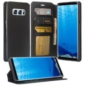 Black Wallet Credtit Card Holder with Stand Cellphone Case for Samsung Galaxy Note 8