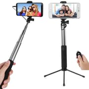 Bluetooth Remote Control Selfie Stick and Mini Base Stand with Back Mirror (SLFLEA132)