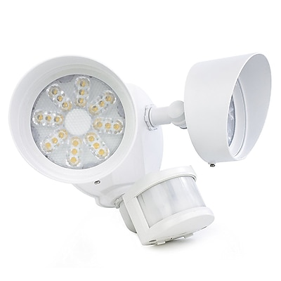 Newhouse Lighting, 35W LED Security Light - Twin Head, White(NHSL3WH)