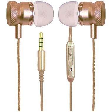 Billboard BB571 Stereo Earbuds with Microphone, Gold